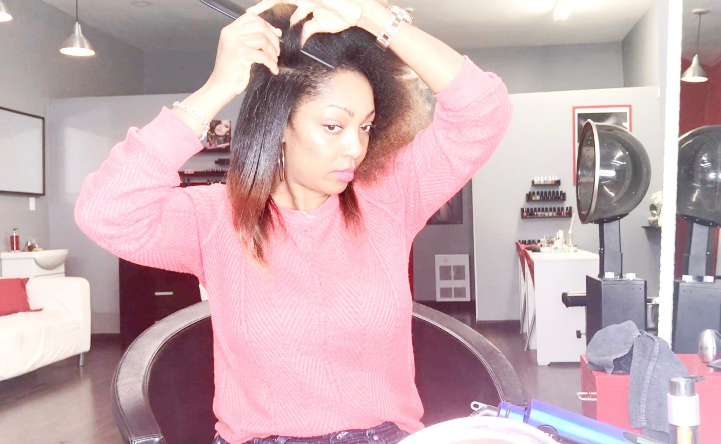 SILK PRESS ON MY NATURAL HAIR (video)